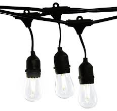 dimmable and weatherproof outdoor string lights industrial