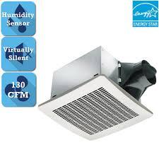 home depot exhaust fan delta breez signature series 130 cfm humidity sensing ceiling