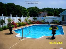patio archaiccomely images about pool landscaping budget