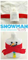 diy snowman soap dispenser craft
