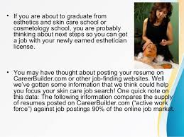 Sample Esthetician Resume by New Esthetician Job Supply And Demand Info From Careerbuilder