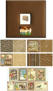 12x12 scrapbook albums vintage africa safari scrapbook album kit 12 x 12 themed