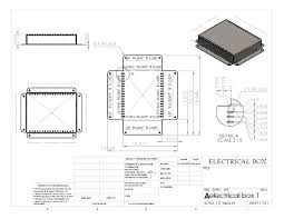 electrical box flat pattern drawing sheet solidworks pinterest