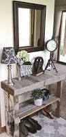 Entry Table Decor by Best 20 Pallet Entry Table Ideas On Pinterest Diy Sofa Table