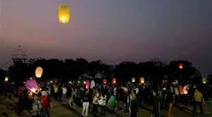 lantern kites makar sankranti celebrations sky lanterns dot the sky the