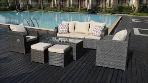 Garden Chairs And Table Png 7 Seater Black Rattan Garden Furniture With Reclining Function