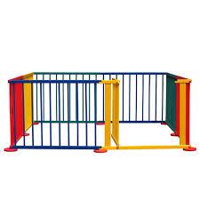 amazon com costzon baby playpen 8 panel colors wooden frame