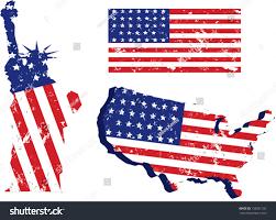 Map Of U Set Grunge American Flagstatue Liberty Map Stock Vector 135291182