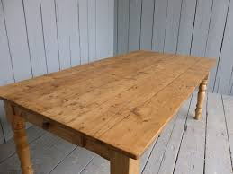 Reclaimed Pine Farmhouse Table With A Drawer - Farmhouse kitchen table with drawers