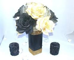 black and gold centerpieces for tables black and gold centerpieces for tables full image for black and gold