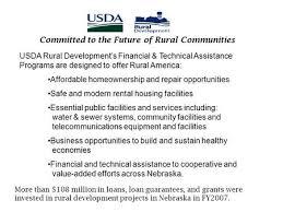 Usda Rural Housing Service Usda Rural Development Program Overview Brian Queen Community