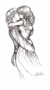 pencil sketches of couples love 2c friends and kiss by zizing