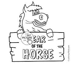 year of horse coloring pages for kids chinese new year coloring