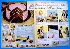 dying for chocolate chocolate peppermint cake vintage ad and recipe