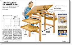 build a drafting table a drafting table for shop or home finewoodworking