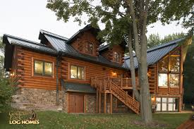 golden eagle log and timber homes log home cabin pictures rear workshop entry