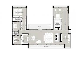 u shaped one story house plan with courtyard lrg aaa ti luxihome