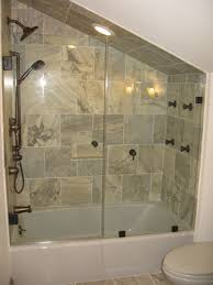 Shower With Bathtub Image Glass Llc Custom Glass Work Gallery