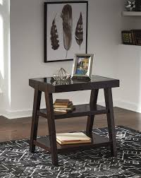 chanceen dark brown home office corner table h637 24