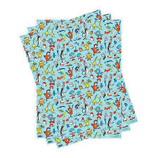 dr seuss wrapping paper 3 sheets dr seuss characters gift wrap wrapping paper cat in the