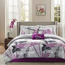 Black And Purple Bed Sets Amazon Com Madison Park Essentials Claremont Complete Bed And