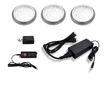battery puck lights under cabinet macleds led stainless steel under cabinet low profile puck light
