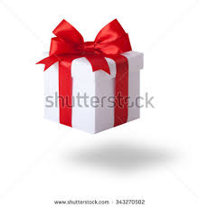 gift box with ribbon white gift box ribbon bow stock photo 116110921