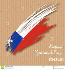 Chile National Flag Chile Independence Day Patriotic Design Stock Vector