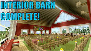 minecraft playstation 63 interior barn complete youtube