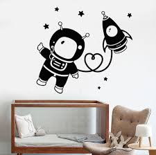 popular art rocket buy cheap art rocket lots from china art rocket astronaut space nursery wall stickers bedroom living room art decoration star rocket vinyl wall decals for