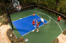 Half Court Basketball Dimensions For A Backyard by Sport Court Midwest Sport Court Midwest Sport Court Specialists