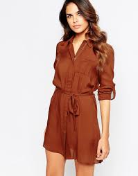 relaxed shirt dress by club l tobacco