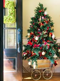 delightful decorating ideas for christmas trees with yellow and f