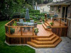 Backyard Small Deck Ideas Like For Front Of Our House The Steps Look Similar To Our Back