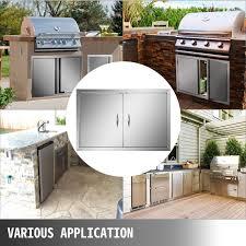 outdoor kitchen cabinet door hinges 42 wx21 h stainless steel access bbq door hinge usa