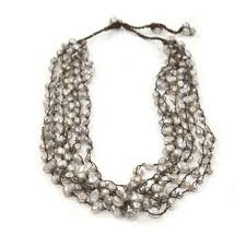 coloured pearls necklace images Light grey freshwater pearl and crystal multi strand necklace fatlip jpg