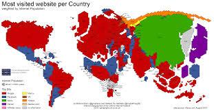 Cartogram Map Age Of Internet Empires