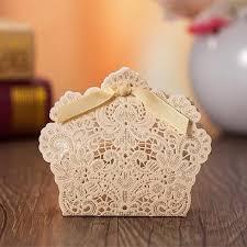 wedding favor box luxury laser cut gold wedding favor box ewfb130 as low as 0 93