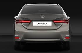 India Bound 2017 Toyota Corolla Altis Facelift Rear Unveiled