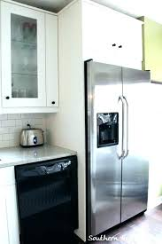 built in refrigerator cabinet refrigerator cabinet height above fridge microwave and kitchen