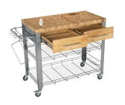 chris u0026 chris end grain kitchen cart work station