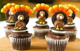 thanksgiving oreo cookie turkey cupcakes cake pops and cup cakes