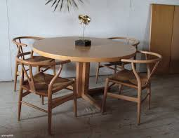 Modern Round Dining Table by Modrest Rackham Midcentury Walnut Round Dining Table Modrest