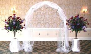 wedding arches using tulle wedding arch decorated with tulle joshuagray co