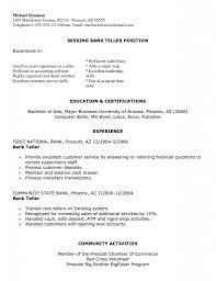 Volunteer Responsibilities Resume Bank Teller Description Resume Free Resume Example And Writing
