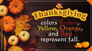the symbols and colors of thanksgiving with their meaning