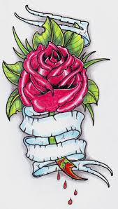 neo trad rose tattoo 0207 by vikingtattoo on deviantart