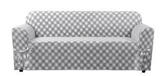 Slipcovers For Patio Furniture Cushions by Sure Fit Buffalo Check Box Cushion Sofa Slipcover U0026 Reviews Wayfair
