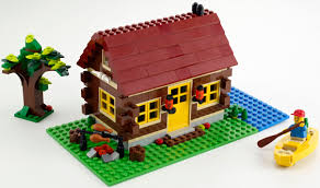 wood lego house lego creator 5766 log cabin i brick city