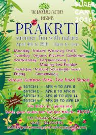 prakrti summer camp cubbon park bangalore